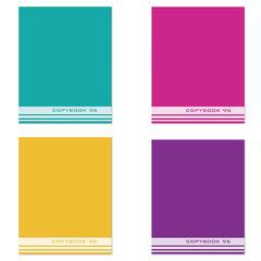 Тетрадь А5, 96 л., STAFF, клетка, офсет №2 ЭКОНОМ, обложка картон, ОДНОТОННАЯ, 402324