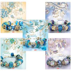 "Тетрадь 48 л., HATBER, клетка, 3D-фольга и 3D-лак, ""Luxury Jewelry"", 48Т5офлВ1"