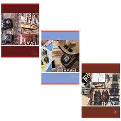 Тетрадь А4, 96 л., BRAUBERG ЭКО скоба, клетка, обложка картон, В ПУТЬ, 403069