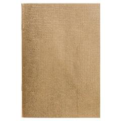 Тетрадь бумвинил, А4, 96 л., скоба, офсет №1, клетка, ЗОЛОТО Metallic, HATBER, 96Т4бвВ3