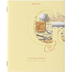 Тетрадь предметная ПАСТЕЛЬНАЯ 48 листов, обложка картон, ГЕОМЕТРИЯ, клетка, подсказ, BRAUBERG, 403958