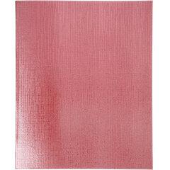 Тетрадь бумвинил, А5, 96 л., скоба, офсет №1, клетка, Розовая Metallic, HATBER, 96Т5бвВ1