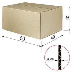 Гофроящик, длина 600 х ширина 400 х высота 400 мм, марка Т22, профиль С, FEFCO 0201 / ГОСТ, исполнение А, 440053