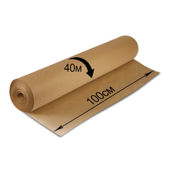 Крафт-бумага в рулоне, 1000 мм x 40 м, плотность 78 г/м2, Марка А (Коммунар), BRAUBERG, 440148