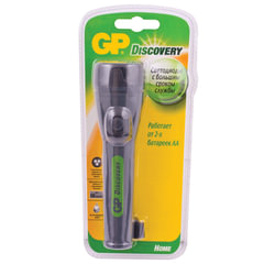 Фонарь GP (Джи-Пи) Discovery, 3 светодиода, без элементов питания (2хAA)