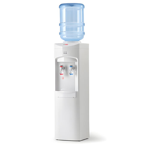 Кулер для воды AEL LC-AEL-350, напольный, НАГРЕВ/ОХЛАЖДЕНИЕ КОМПРЕССОРНОЕ, 2 крана, белый, 00048
