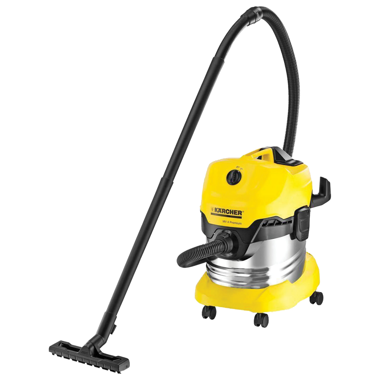 Пылесос KARCHER WD 4 Premium, с пылесборником, мощность 1000 Вт, контейнер из нержавеющей стали, 1.348-150.0