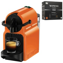 Кофемашина капсульная DELONGHI Nespresso EN 80.O, 1260 Вт, объем 0,8 л, оранжевая + капсулы на 16 чашек