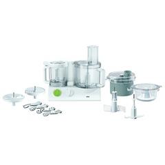 Кухонный комбайн BRAUN FX3030, мощность 600 Вт, 15 скоростей, 7 насадок, 2 чаши, соковыжималка, белый