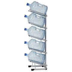 Стеллаж для хранения воды HOT FROST, для 5 бутылей, металл, серебристый, 251000502