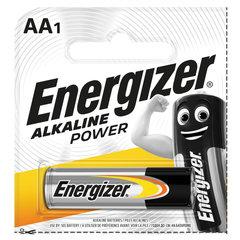 Батарейка ENERGIZER Alkaline Power, AA (LR06, 15А), алкалиновая, пальчиковая, 1 шт., в блистере (отрывной блок)