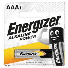 Батарейка ENERGIZER Alkaline Power, AAA (LR03, 24А), алкалиновая, мизинчиковая,1 шт., в блистере (отрывной блок)