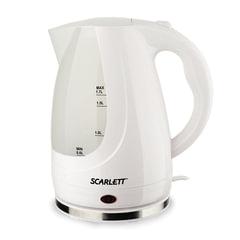 Чайник SCARLETT SC-EK18P31, закрытый нагревательный элемент, объем 1,7 л, мощность 2200 Вт, пластик, белый