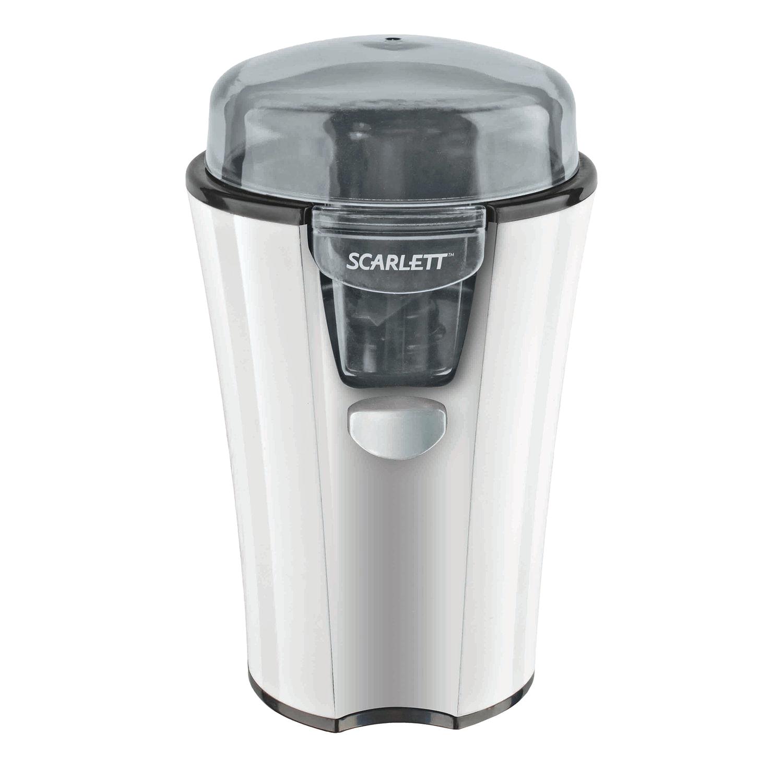 Кофемолка SCARLETT SC-010, мощность 180 Вт, вместимость 40 г, пластик, белая
