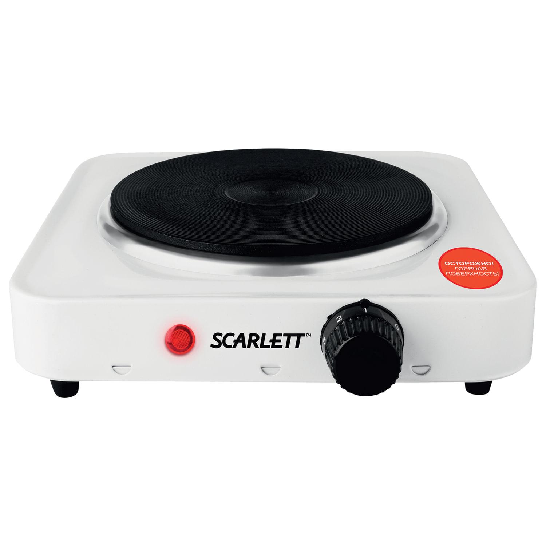 Плитка электрическая SCARLETT SC-HP700S01, мощность 1000 Вт, 1 конфорка, белая
