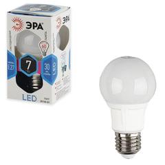 Лампа светодиодная ЭРА, 7 (60) Вт, цоколь E27, грушевидная, холодный белый свет, 30000 ч., LED smdA55/A60-7w-840-E27
