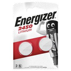 Батарейки ENERGIZER, CR 2450, литиевые, КОМПЛЕКТ 2 шт., в блистере