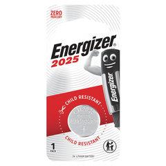 Батарейка Energizer, CR 2025, литиевая, 1 шт., в блистере