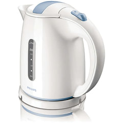 Чайник PHILIPS HD4646/70, 1,5 л, 2400 Вт, закрытый нагревательный элемент, пластик, белый/голубой