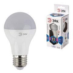 Лампа светодиодная ЭРА, 11 (100) Вт, цоколь E27, грушевидная, холодный белый свет, 30000 ч., LED smdA60-11w-840-E27