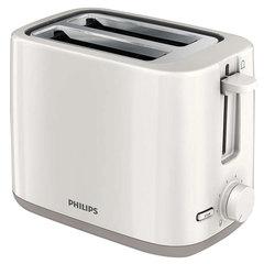 Тостер PHILIPS HD2595/00, 800 Вт, 2 тоста, 7 режимов, подогрев, разморозка, пластик, белый