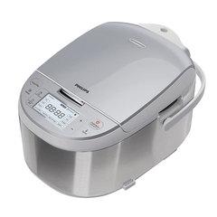 Мультиварка PHILIPS HD3095/03, 860 Вт, объем 4 л, 10 программ, 3D-нагрев, сталь, серебристая