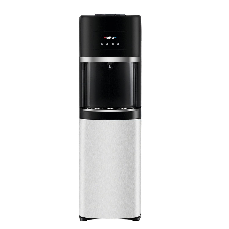 Кулер для воды HOT FROST 35AEN, напольный, НАГРЕВ/ОХЛАЖДЕНИЕ ЭЛЕКТРОННОЕ, 1 кран (3 кнопки), черный/серебро, 120203502