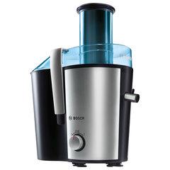 Соковыжималка BOSCH MES3500, 700 Вт, стакан 1,25 л, емкость для жмыха 2 л, нержавеющая сталь/пластик, синий