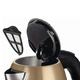 Чайник BOSCH TWK7808, 1,7 л, 2200 Вт, закрытый нагревательный элемент, нержавеющая сталь, золотой