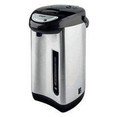 Термопот SCARLETT SC-ET10D01, 3,5 л, 750 Вт, 1 температурный режим, ручной насос, сталь, черный/серебристый