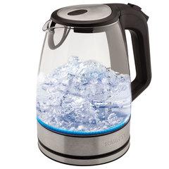 Чайник SCARLETT SC-EK27G20, 2 л, 2200 Вт, закрытый нагревательный элемент, стекло, черный