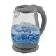 Чайник SCARLETT, 1,7 л, 2000 Вт, закрытый нагревательный элемент, стекло, серый