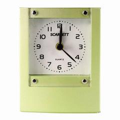 Часы-будильник SCARLETT SC-801, подсветка, электронный сигнал, пластик, фисташковые