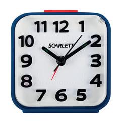 Часы-будильник SCARLETT SC-AC1014N, повтор сигнала, электронный сигнал, пластик, синие