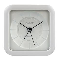 Часы-будильник SCARLETT SC-AC1006W, повтор сигнала, электронный сигнал, пластик, белые