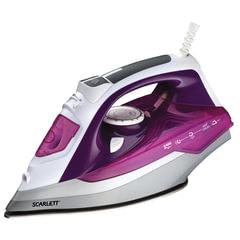 Утюг SCARLETT SC-SI30P05, 2400 Вт, антипригарное покрытие, самоочистка, фиолетовый