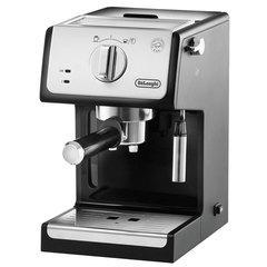 Кофеварка рожковая DELONGHI ECP 33.21, 1100 Вт, объем 1 л, ручной капучинатор, серая