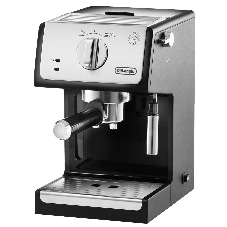 Кофеварка рожковая DELONGHI ECP 33.21/BK, 1100 Вт, объем 1 л, ручной капучинатор, серая