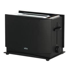 Тостер BRAUN HT450 BK, 1080 Вт, 2 тоста, 7 режимов, разморозка, подогрев, решетка для булочек, черный
