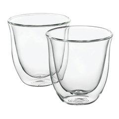 Набор кофейный DELONGHI для капучино на 2 персоны, стекло, 190 мл, прозрачный