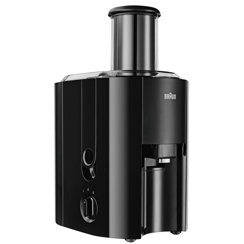 Соковыжималка BRAUN J300, 800 Вт, 1,25 л, емкость для жмыха 2 л, пластик, черная
