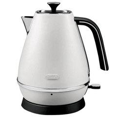 Чайник DELONGHI KBI2001.W, 1,7 л, 2000 Вт, скрытый нагревательный элемент, сталь, белый