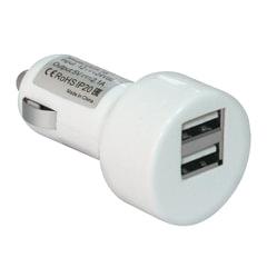 Зарядное устройство автомобильное DEFENDER UCA-15, 2 порта USB, выходной ток 2A/1А, белое, блистер