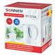 Чайник SONNEN KT-1758, 1,7 л, 2200 Вт, закрытый нагревательный элемент, пластик, белый, 453415