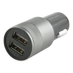 Зарядное устройство автомобильное RED LINE C20, 2 порта USB, выходной ток 2,1 А, черное