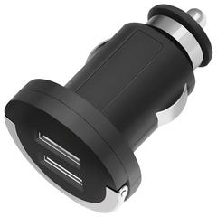 Зарядное устройство автомобильное DEPPA Ultra, 2 порта USB, выходной ток 2,1 А, черное
