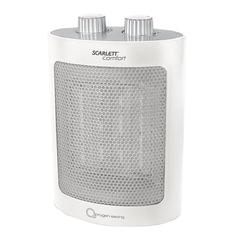 Тепловентилятор SCARLETT SC-FH53K12, керамический нагревательный элемент, 1500 Вт, 2 режима работы, белый