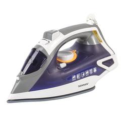 Утюг SONNEN SI-240, 2600 Вт, керамическое покрытие, антикапля, антинакипь, фиолетовый, 453507