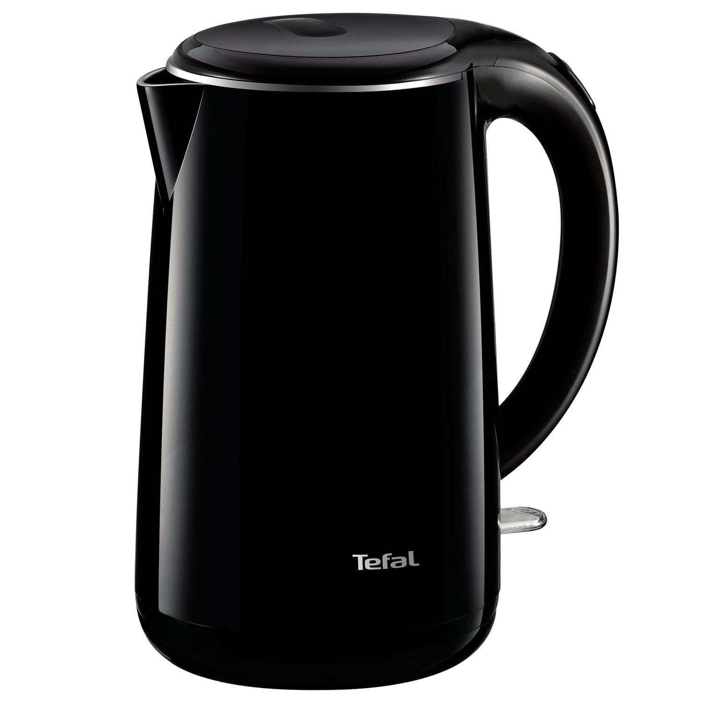 Чайник TEFAL KO260830, 1,7 л, 2150 Вт, закрытый нагревательный элемент, пластик, металл, черный