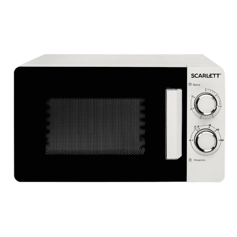 Микроволновая печь SCARLETT SC-MW9020S03M, объем 20 л, мощность 700 Вт, механическое управление, гриль, таймер, белая